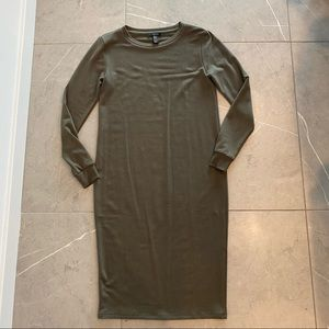 Forever 21 Light Olive Green Dress